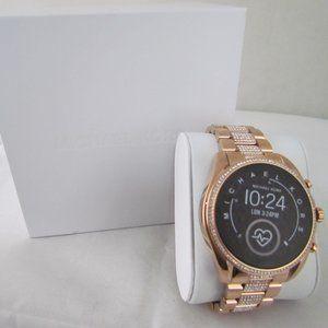 Michael Kors Women's Rose Gold Tone Smartwatch